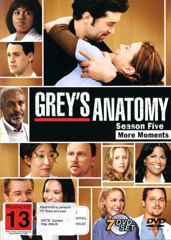 Greys Anatomy Season 5 Dvd On Sale Now At Mighty Ape Nz