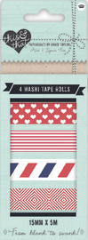 This and That Washi Tape Navy (4 Pack)