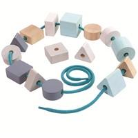 Plan Toys : Geo Lacing Beads