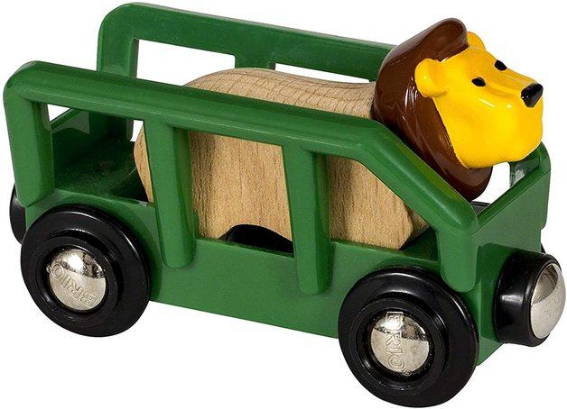 Brio: World - Safari Lion and Wagon