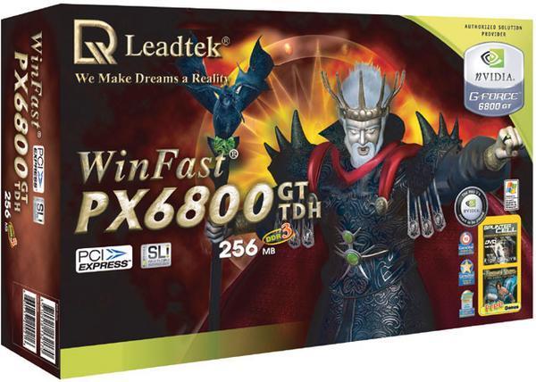 Leadtek Graphics Card WinFast PX6800 GT TDH 256MB SLI 6800 PCIE