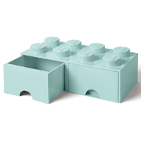 LEGO Storage Brick Drawer 8 (Aqua)