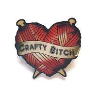 Jubly-Umph Crafty B*tch Heart Brooch image