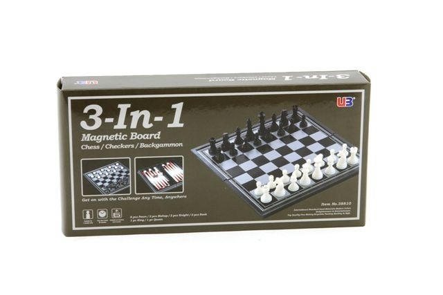 Magnetic 3 in 1 (Chess, Checkers, Backgammon) image