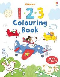 123 Colouring Book with Stickers image