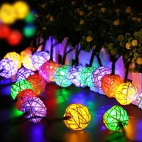 Colourful Rattan String Lights (20 LED) image