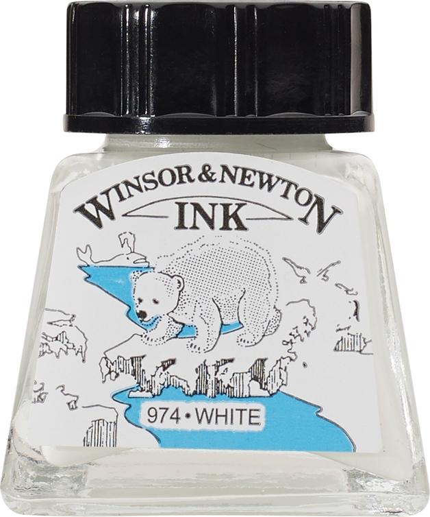 Winsor & Newton: Drawing Ink - White 702 (14ml)
