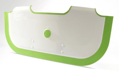 BabyDam Bathwater Barrier Baby Bath Tub - White/Green