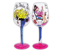 Bottom's Up Wine Glass - Because I'm Worth It