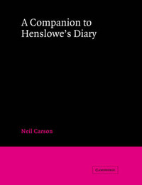 A Companion to Henslowe's Diary by Neil Carson image