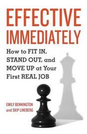 Effective Immediately by Emily Bennington image