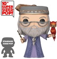 "Harry Potter: Dumbledore (with Fawkes) - 10"" Super Sized Pop! Vinyl Figure"