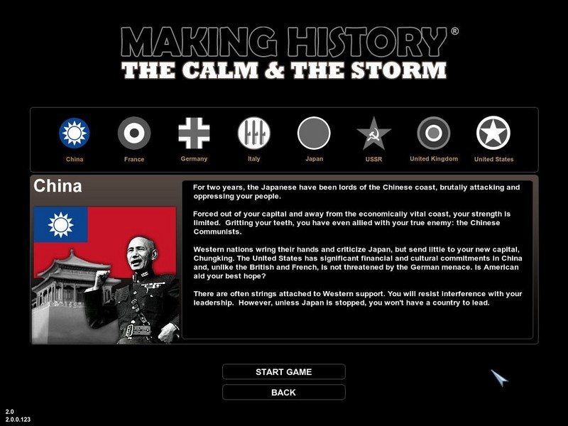 Making History: The Calm & the Storm for PC Games image