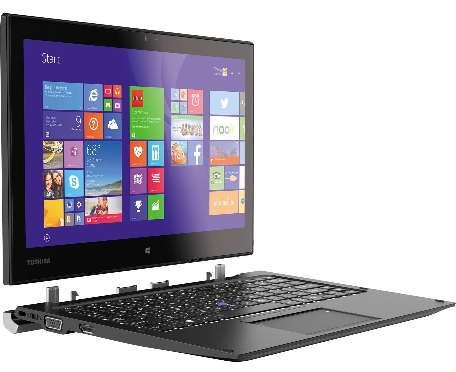 """12.5"""" Toshiba Portégé Z20T-B Laptop/Tablet Intel Core M-5Y51 4GB with 4G LTE image"""