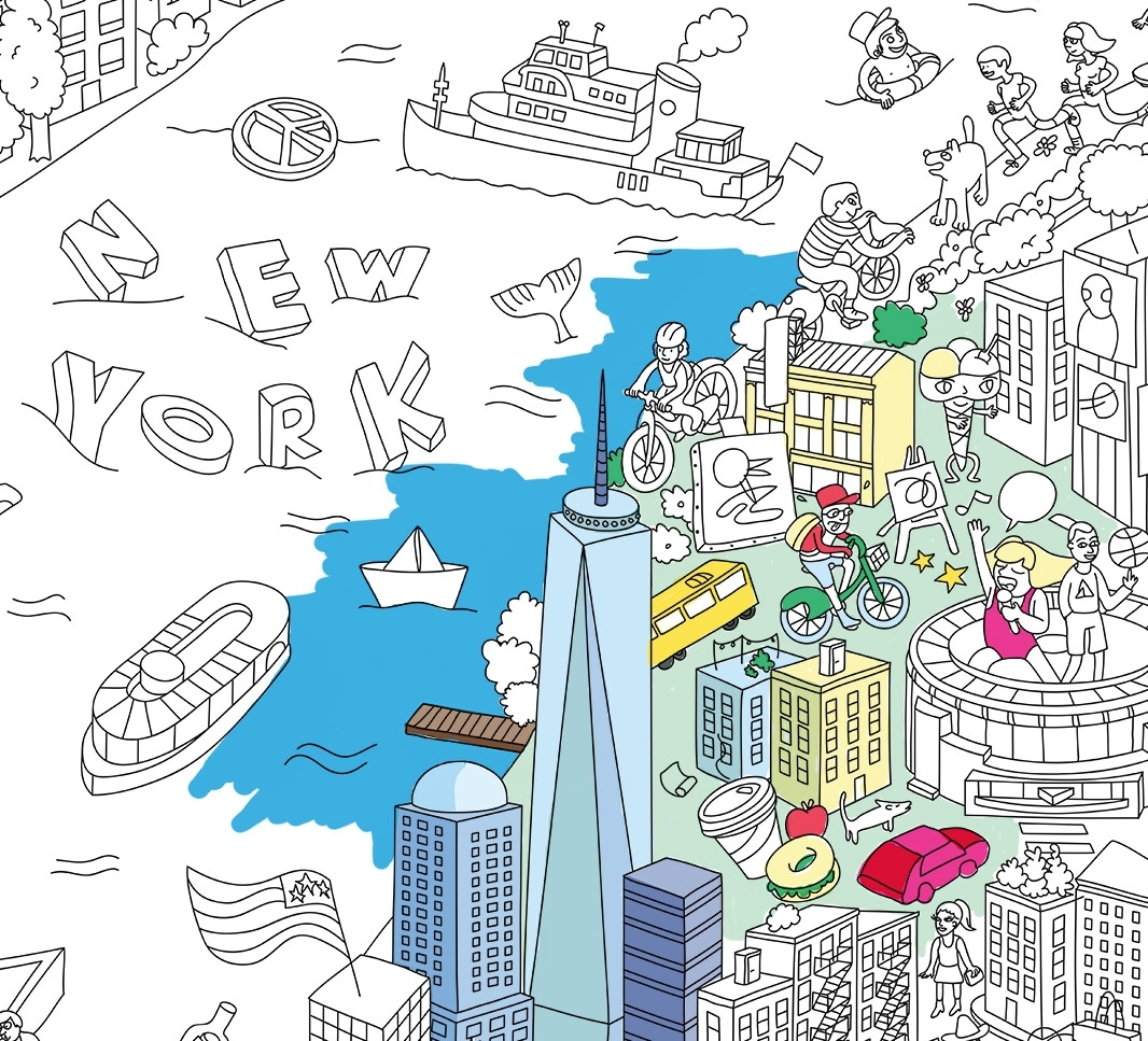 Omy Giant Coloring Poster (New York)