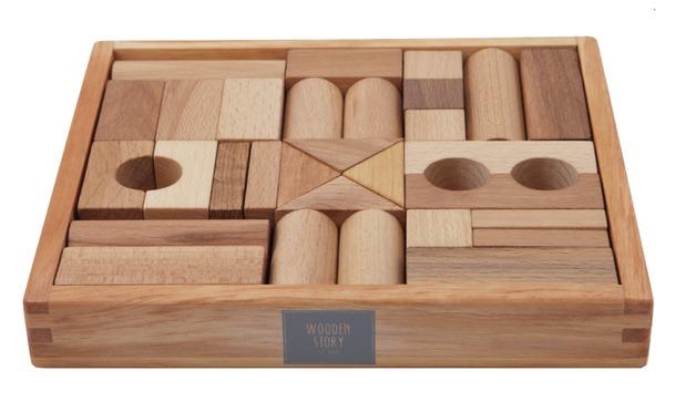 Wooden Story Natural Blocks (30 pcs)