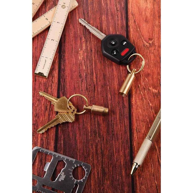 Everyday Carry Brass Keyring (Assorted Designs)