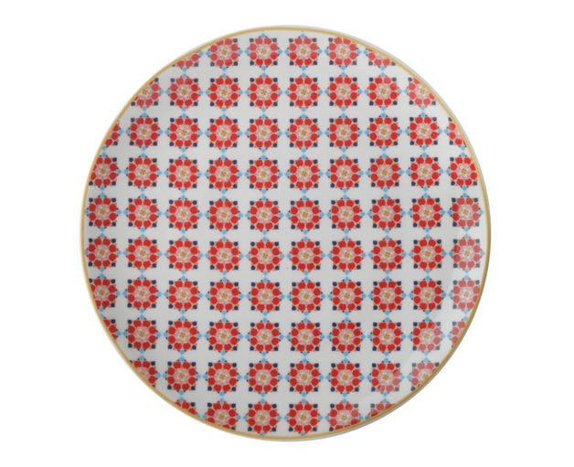 Maxwell & Williams Teas & C's Isfara Plate - Samarq Red (20cm)