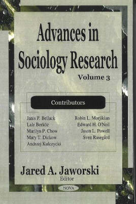 Advances in Sociology Research: Volume 3 image