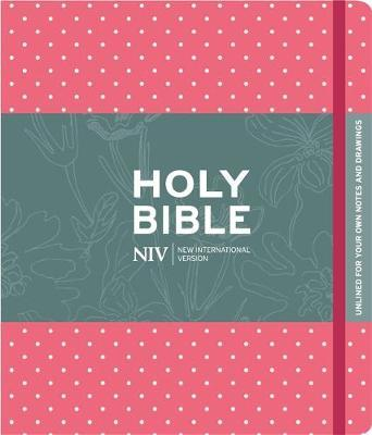 NIV Pink Polka Dot Journalling Bible with Unlined Margins by New International Version image