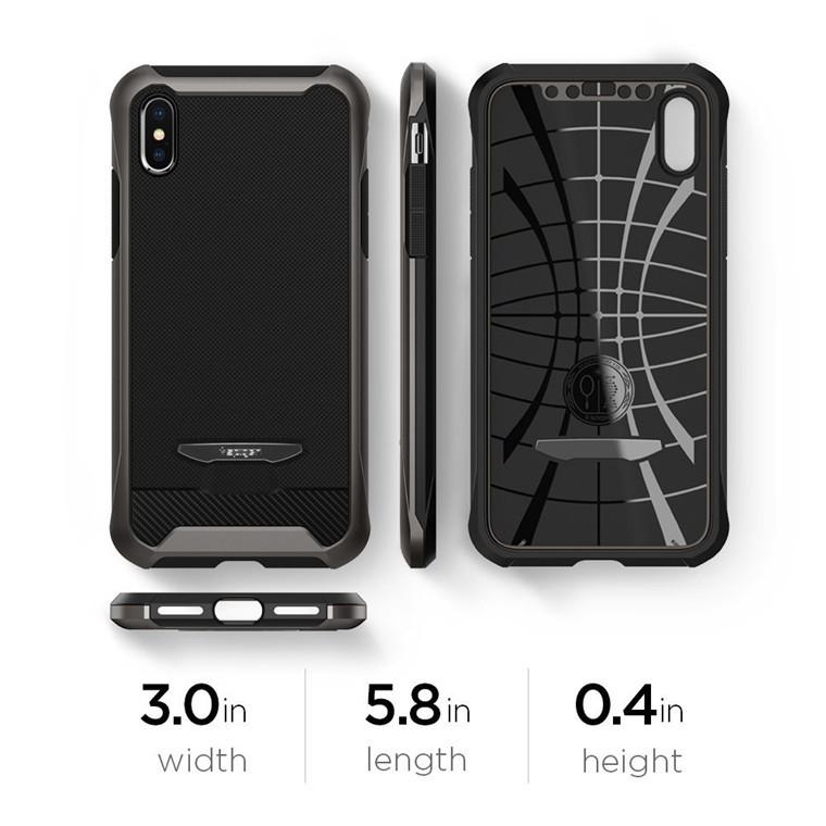 brand new d13bf 148e9 Spigen iPhone X Reventon Case Gunmetal