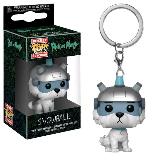 Rick & Morty: Snowball - Pocket Pop! Keychain