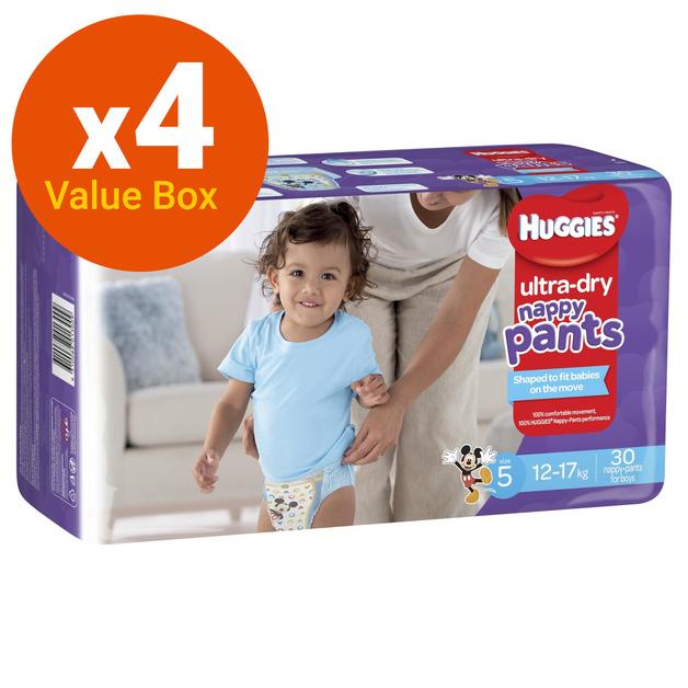 Huggies: Ultra Dry Nappy Pants Bulk Value Box - Size 5 Walker Boy (120)