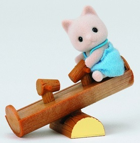 Sylvanian Families: Cat Baby with See Saw
