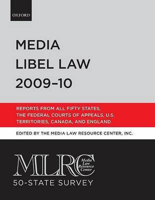 Media Libel Law: 2009-2010 by Media Law Research Center image