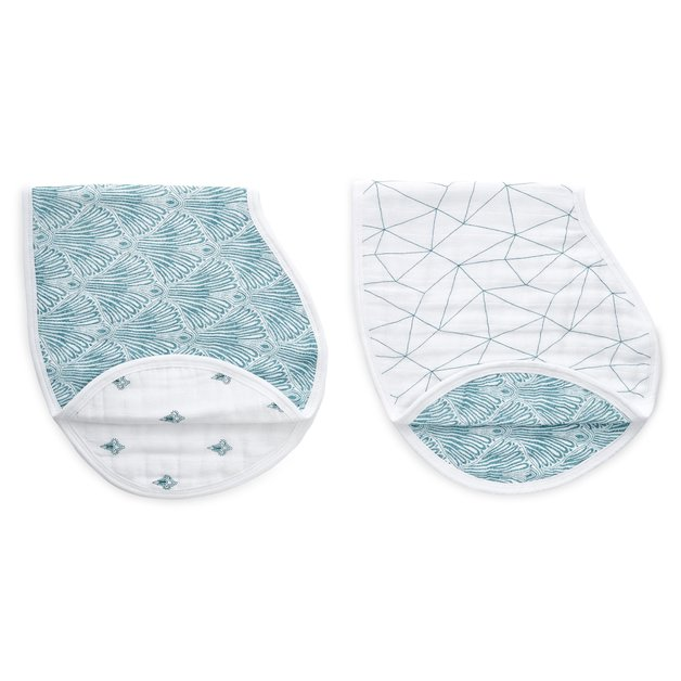 Aden + Anais: Paisley Teal Classic Burby Bibs (2 Pack)