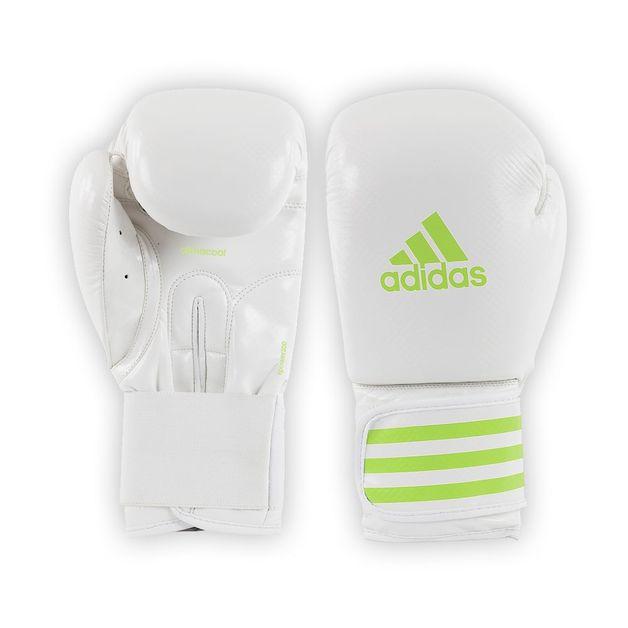 Adidas - 8oz White/Green Fpower200 Boxing Gloves