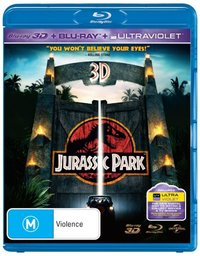 Jurassic Park 3D on Blu-ray, 3D Blu-ray, UV
