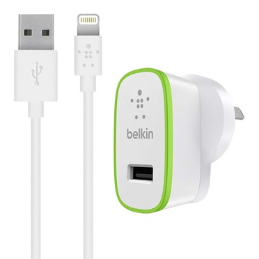 Belkin - Home Charger with Lightning to USB ChargeSync Cable