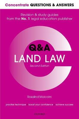 Concentrate Questions and Answers Land Law by Rosalind Malcolm image
