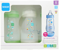 MAM Anticolic Feeding Bottle Set 260ml - 3 Pack (Green)