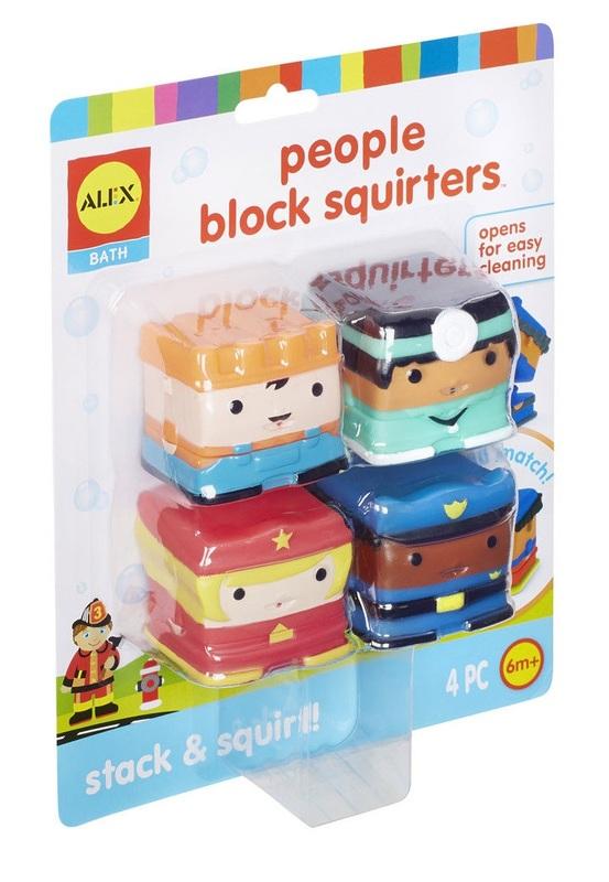 Alex Bath: People Blocks - Squirter Toys