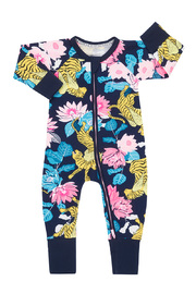 Bonds Zip Wondersuit Long Sleeve - When Tigers Fly Navy (12-18 Months)