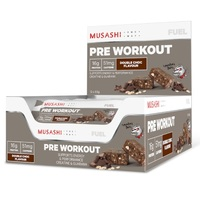 Musashi Pre-Workout Protein Bars - Double Chocolate (12 x 65g)