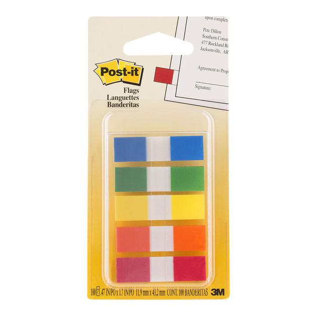 Post-it: Flags 683-5CF Mini Assorted Portable