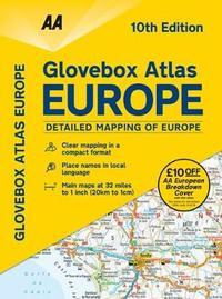AA Glovebox Atlas Europe by AA Publishing