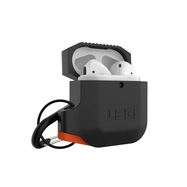UAG: Apple Airpods Silicone Case - Black/Orange