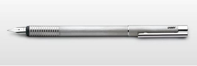 Lamy logo Fountain Pen - Brushed Steel (Medium)