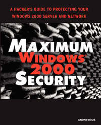 Maximum Windows 2000 Security by Mark Burnett