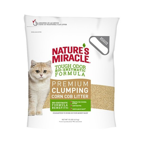 Natures Miracle: Clumping Corn Cob Litter 8.1kg
