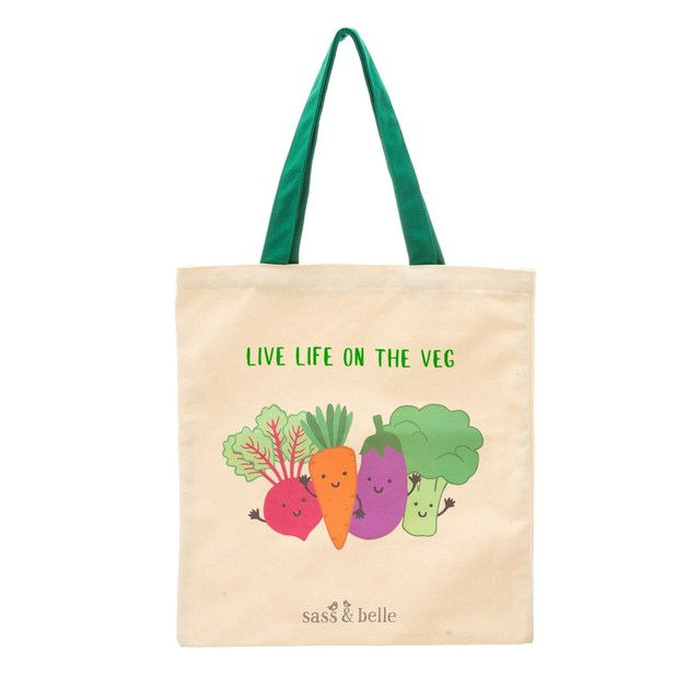 Sass & Belle: Live Life on the Veg Tote Bag