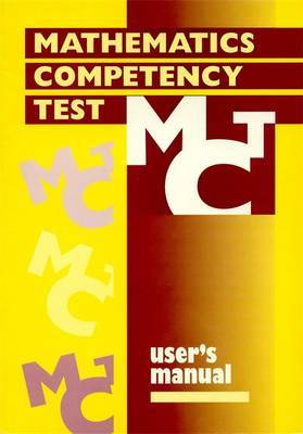 Mathematics Competency Test Manual by Philip E. Vernon