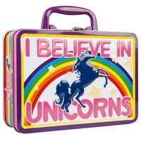 I Believe in Unicorns Fun Box Tin Tote