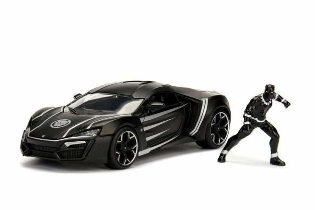 Jada 1/24 HW Rides Lykan w/ Black Panther - Diecast Model