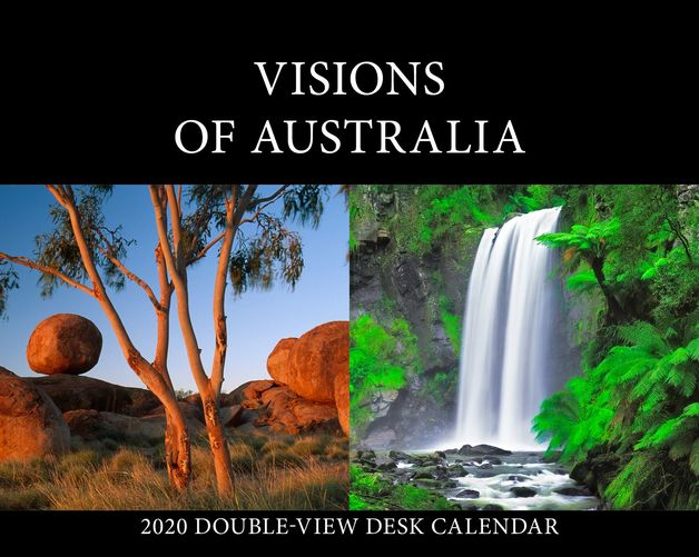 Visions of Australia 2020 Desk Easel - Double View Calendar