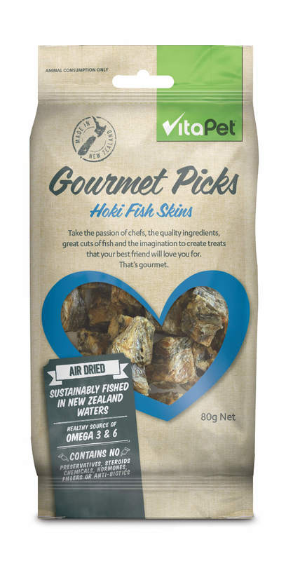 Vitapet: Gourmet Picks Hoki Fish Skins (80g)